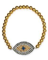 Roni Blanshay | Gold Blue Evil Eye Bracelet | Lyst