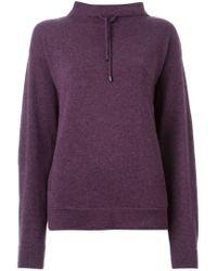 JOSEPH - Pink Drawstring Turtle Neck Sweater - Lyst
