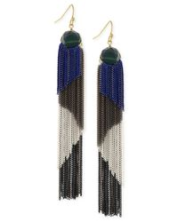 BCBGeneration | Multicolor Multi-tone Tassel Chain Earrings | Lyst