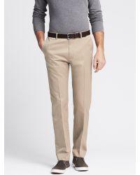 Banana Republic | Natural Slim Non-iron Cotton Pant for Men | Lyst