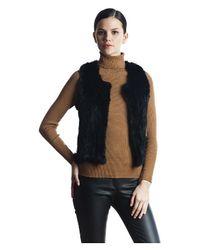 525 America   Black Rabbit Fur Vest   Lyst