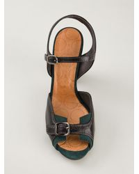Chie Mihara - Black Open Toe Sandals - Lyst
