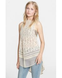 Free People - Natural 'maisie' Lace Tunic - Lyst
