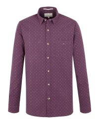 Racing Green - Purple Crane Multi Dobby Shirt for Men - Lyst
