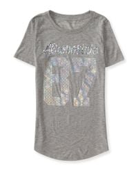 Aéropostale | Gray Aéropostale Sequin And Shine Graphic Logo Tee | Lyst