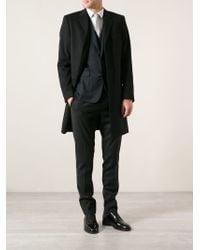 Dolce & Gabbana - Black Classic Overcoat for Men - Lyst