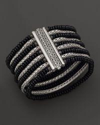 John Hardy | Batu Bedeg Silver Multi-Row Bracelet With Black Chalcedony | Lyst