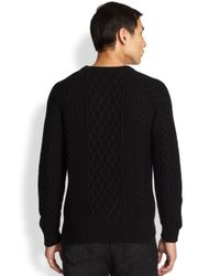 Alexander McQueen - Black Skull Cable Knit Sweater for Men - Lyst