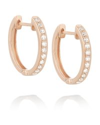 Anita Ko | Pink Huggy 18-Karat Rose Gold Diamond Hoop Earrings | Lyst