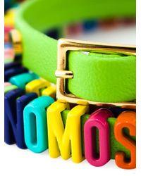 Moschino - Green Logo Plaque Bracelet - Lyst