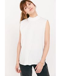Silence + Noise | White Don't Mock Me Muscle Tee | Lyst