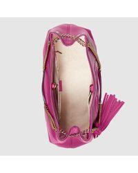 Gucci - Purple Soho Leather Shoulder Bag - Lyst