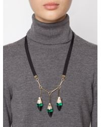 Marni | Green Three Pendant Necklace | Lyst
