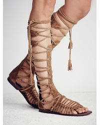 Free People | Brown Mesa Verde Gladiator Sandal | Lyst