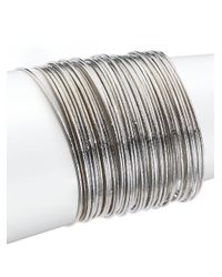 ABS By Allen Schwartz | Metallic Dark & Stormy Bangle Bracelet Set | Lyst
