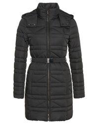 BOSS Black Down Coat In Water-repellent Fabric: 'pavine'