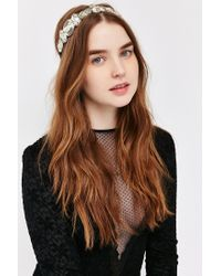 Urban Outfitters - Metallic Art Deco Embellished Headband - Lyst