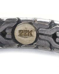 John Hardy - Multicolor Pre-Owned: 22Ky & Sterling Silver Palu Medium Hoop Earrings - Lyst