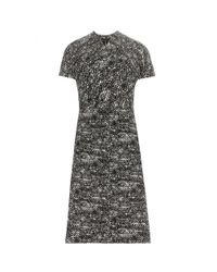 Bottega Veneta - Black Printed Dress - Lyst