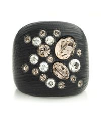 Alexis Bittar | Black Crystal Dusted Block Ring | Lyst