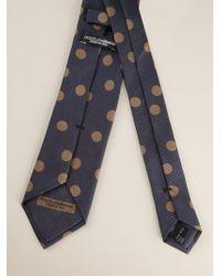 Dolce & Gabbana - Blue Polka Dot Print Tie for Men - Lyst