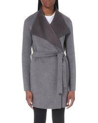 JOSEPH - Gray Lisa Wool And Cashmere-blend Coat - Lyst