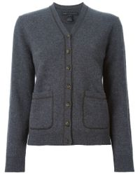 Marc By Marc Jacobs - Gray Patch Pocket Cardigan - Lyst