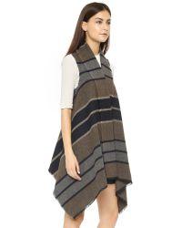 BB Dakota - Black Duncan Wool Blanket Vest - Lyst