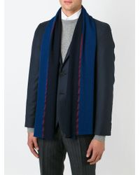 Paul Smith - Blue Knitted Scarf for Men - Lyst
