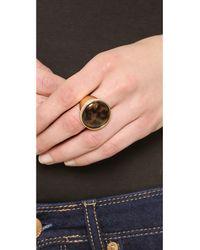 Michael Kors - Metallic Domed Tortoise Ring Goldtortoise - Lyst