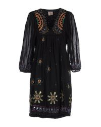 Antik Batik | Black Hippy Embroidered Cotton Dress | Lyst