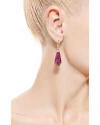 Jade Jagger | Red Never-ending Ruby and Diamond Pave Drop Earrings | Lyst