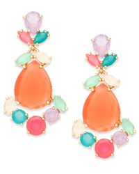 kate spade new york | Multicolor Gold-tone Colorful Stone Chandelier Earrings | Lyst