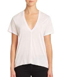 Helmut Lang | White Short-sleeve V-neck Tee | Lyst
