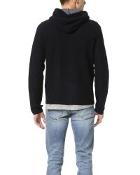 Rag & Bone | Black Dax Hoodie for Men | Lyst