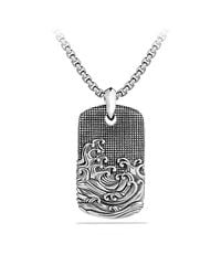 David Yurman - Metallic Waves Tag Necklace for Men - Lyst