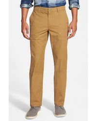 Bonobos | Blue Straight Leg Washed Cotton Chinos for Men | Lyst