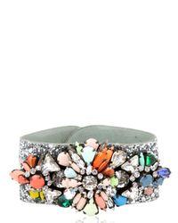 Shourouk - Multicolor Atari Cuff Glitter Jumble Bracelet - Lyst