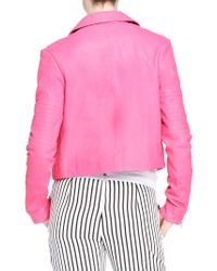 J Brand | Pink Aiah Leather Jacket | Lyst