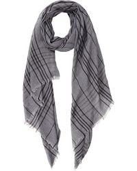 Ermenegildo Zegna - Gray Plaid Scarf for Men - Lyst