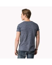 Tommy Hilfiger | Blue Cotton Printed T-shirt for Men | Lyst