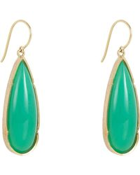 Irene Neuwirth | Green Women's Elongated Teardrop Earrings | Lyst