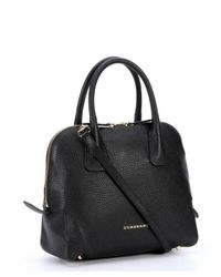Burberry - Black Leather Small Bowling Bag - Lyst