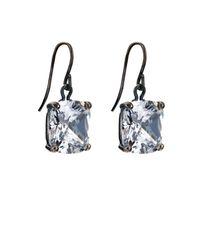 Bottega Veneta - Metallic Cubic-zirconia And Silver Drop Earrings - Lyst
