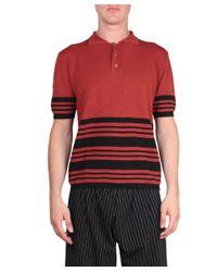 J.W.Anderson - Orange Merino Wool Polo for Men - Lyst