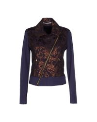 GAUDI | Purple Crepe and Jacquard-Blend Jacket | Lyst