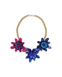 Erickson Beamon | Pink and Blue Urban Jungle Flower Necklace | Lyst