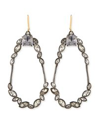 Alexis Bittar - Metallic Miss Havisham Marquise Cluster Earrings - Lyst