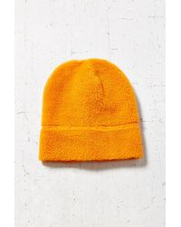 BDG | Orange Camp Fleece Stand Up Beanie | Lyst