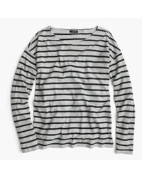 J.Crew | Gray Deck-striped T-shirt | Lyst